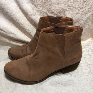 Lucky Brand Benissa Leather Pull On Ankle Boots